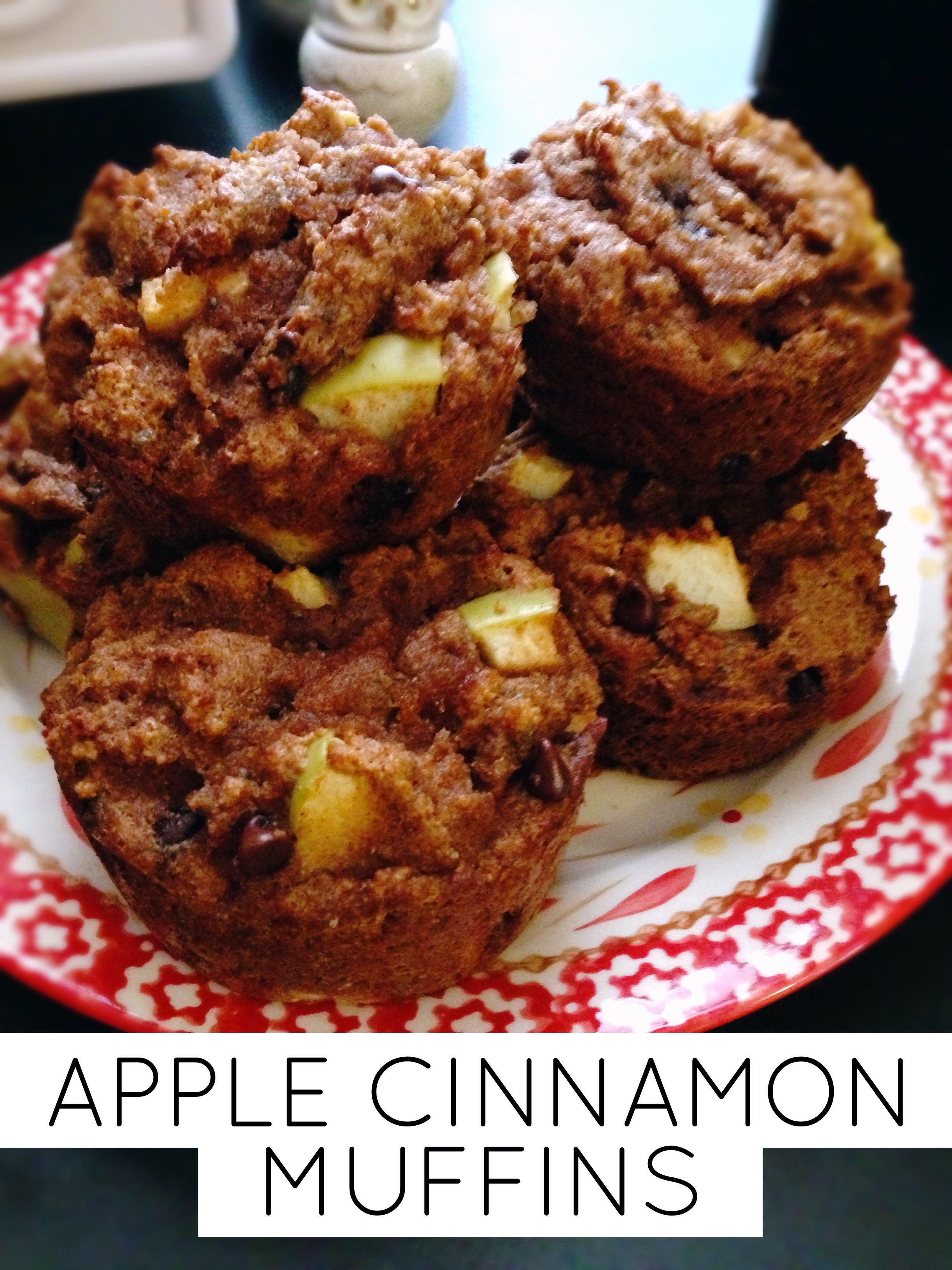 clean apple cinnamon muffins